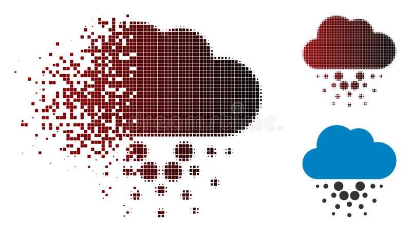 Icône tramée réduite en fragments de nuage de Cardano de pixel illustration libre de droits