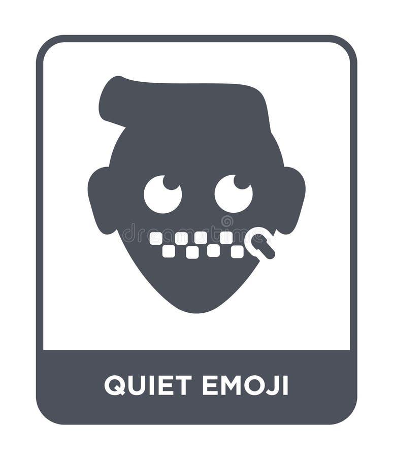 icône tranquille d'emoji dans le style à la mode de conception icône tranquille d'emoji d'isolement sur le fond blanc icône tranq illustration libre de droits