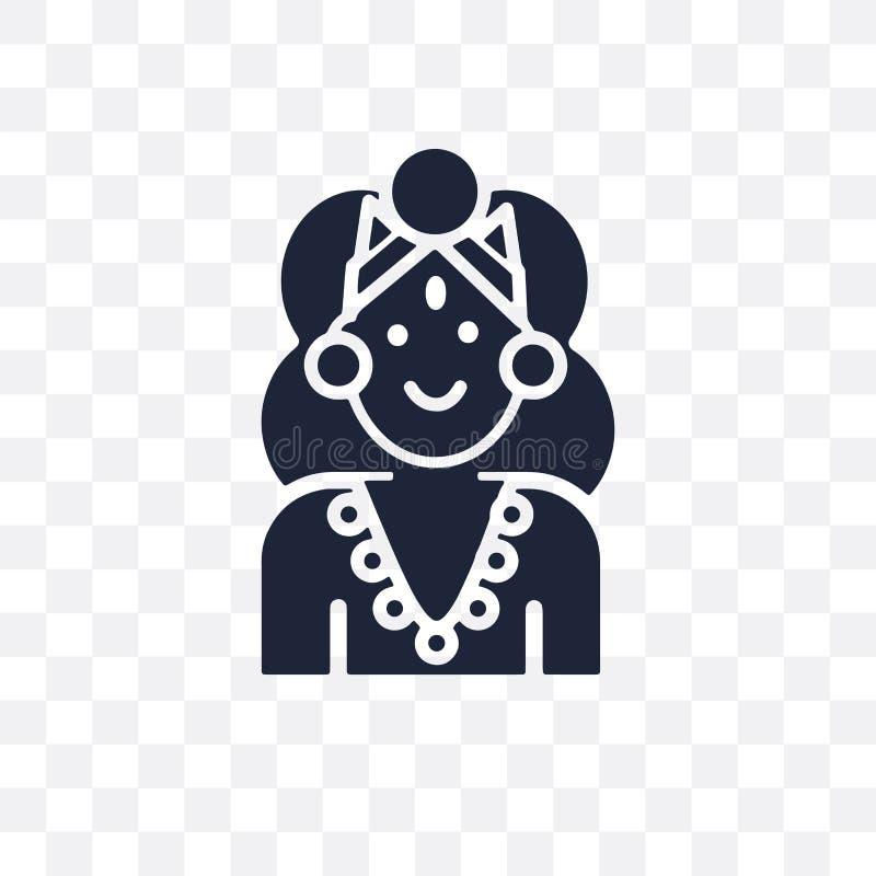 Icône transparente d'Alamelu Conception de symbole d'Alamelu de colle de l'Inde illustration stock