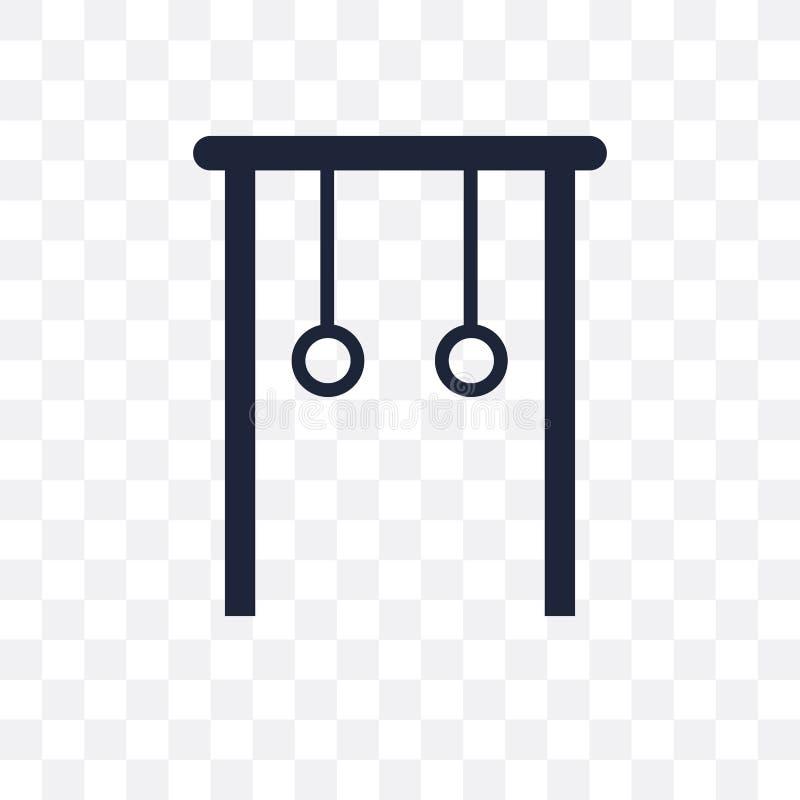 Icône transparente d'anneaux gymnastiques Conception gymnastique de symbole d'anneaux illustration de vecteur