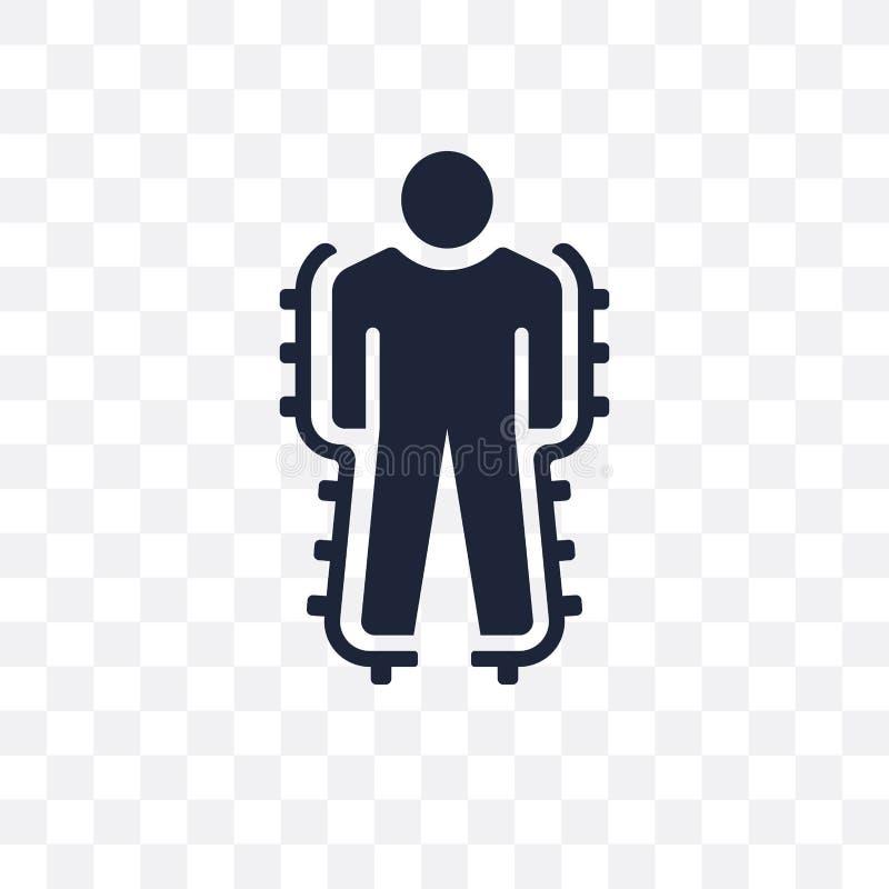 Icône transparente d'exosquelette Conception de symbole d'exosquelette de Fut illustration libre de droits