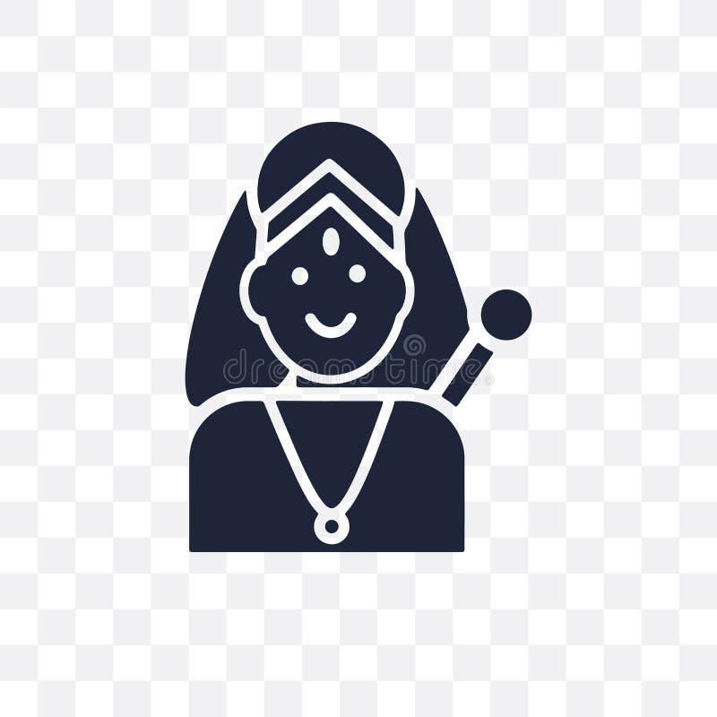 Icône transparente d'INDRA Conception de symbole d'INDRA de collectio de l'Inde illustration libre de droits