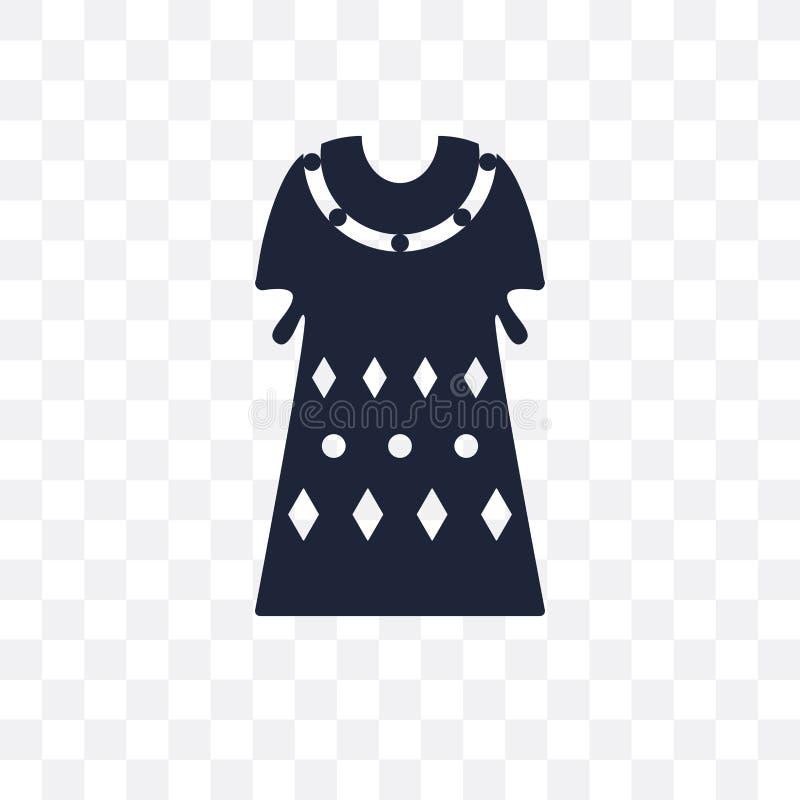 Icône transparente de caftan Conception de symbole de caftan de colle de vêtements illustration stock