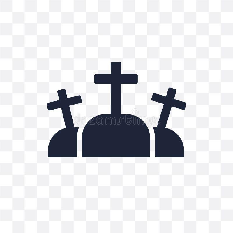 Icône transparente de calvaire Conception de symbole de calvaire de la religion Co illustration stock