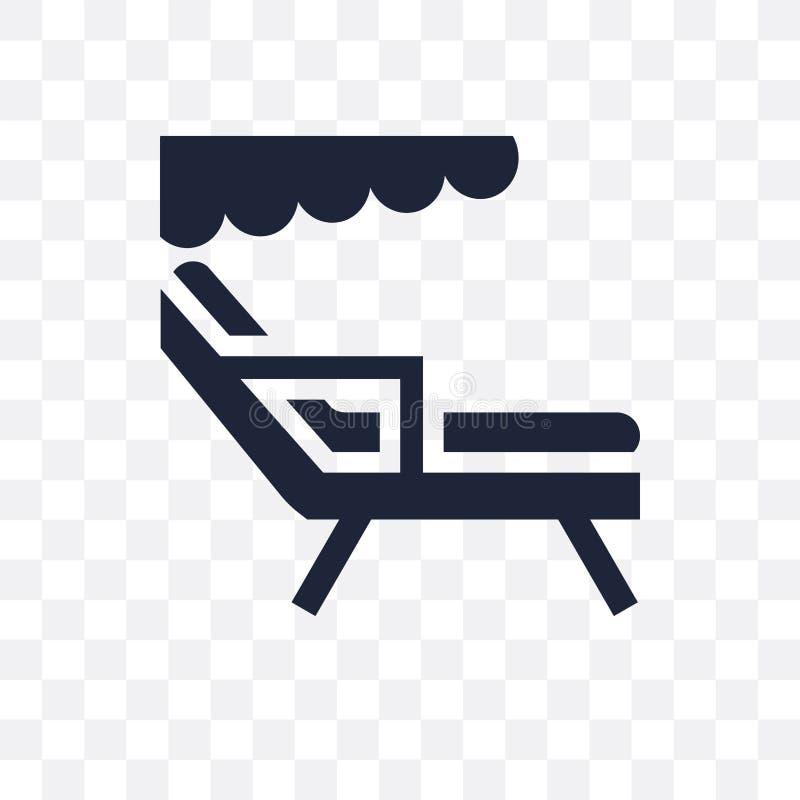 Icône transparente de chaise de plage Conception de symbole de chaise de plage de somme illustration de vecteur