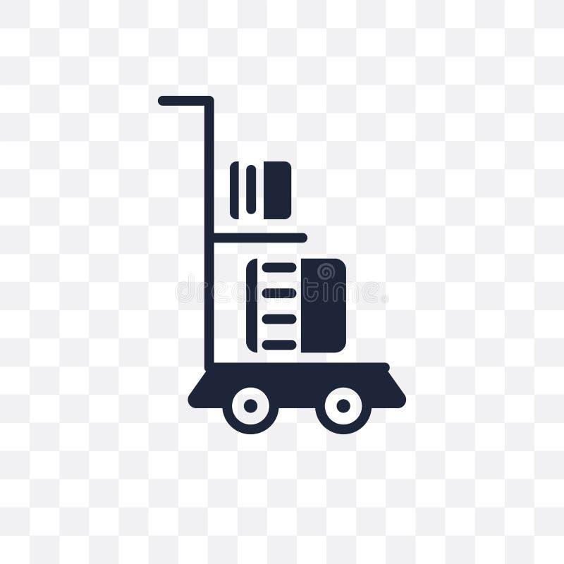 Icône transparente de chariot de la livraison Conception de symbole de chariot de la livraison de illustration stock