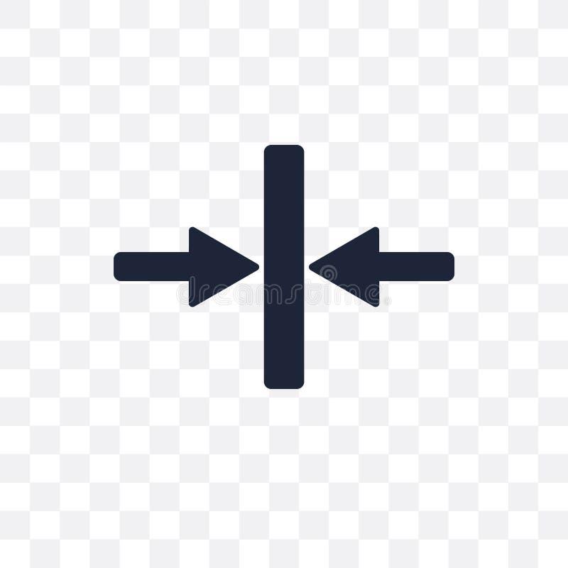 Icône transparente de compresse Conception de symbole de compresse de navig de Web illustration libre de droits
