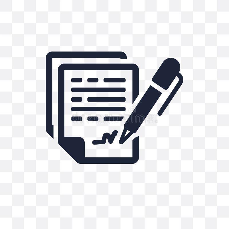 Icône transparente de convention de confidentialité La confidentialité conviennent illustration libre de droits