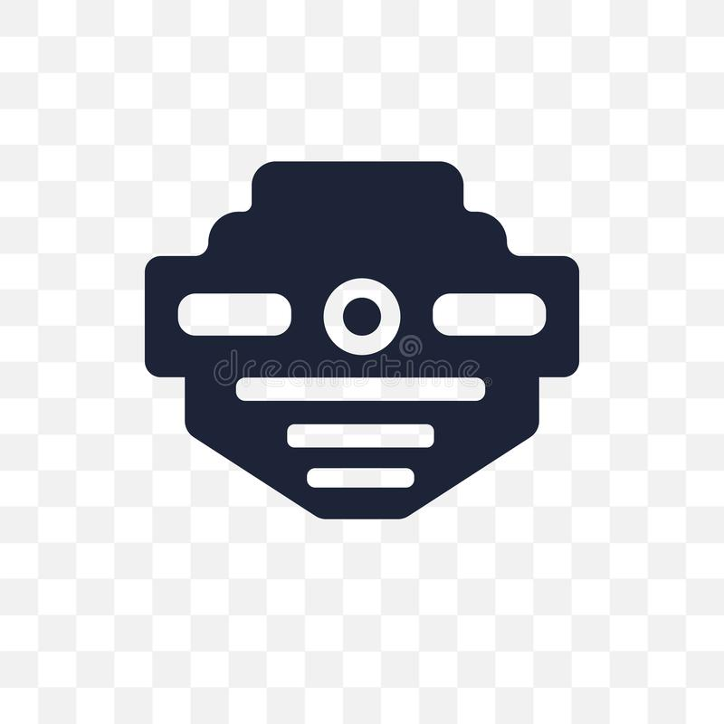 icône transparente de détecteur de fumée conception franc de symbole de détecteur de fumée illustration stock