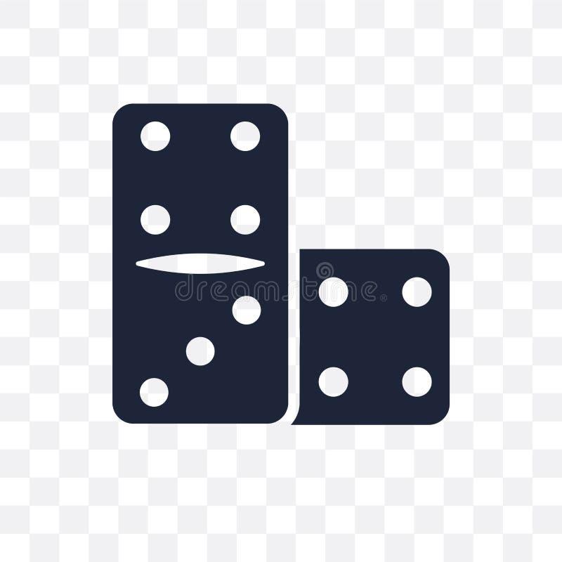 Icône transparente de domino Conception de symbole de domino de collec d'arcade illustration de vecteur