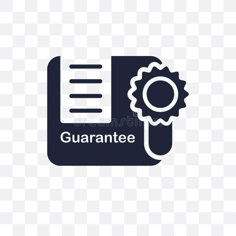Icône transparente de garantie La conception de symbole de garantie de livrent illustration libre de droits