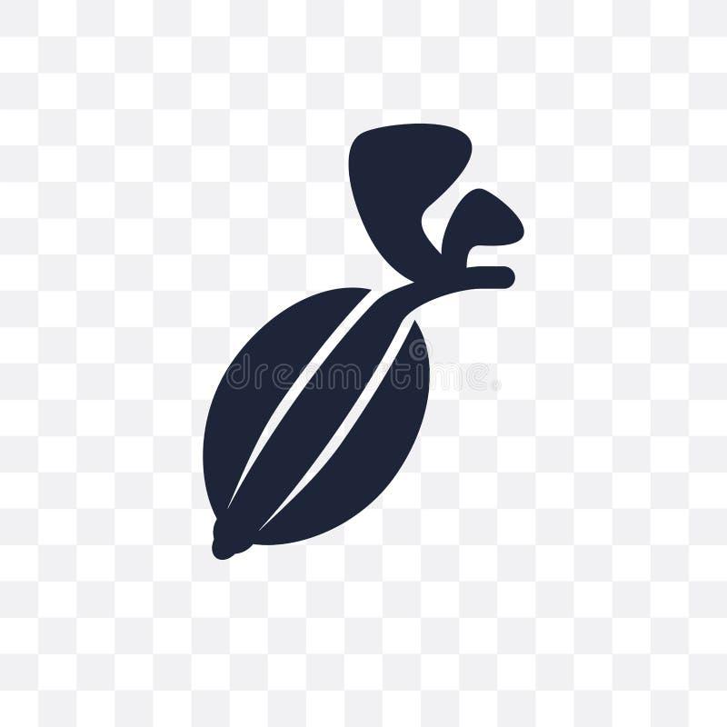 Icône transparente de groseille à maquereau Conception de symbole de groseille à maquereau de fruit illustration stock