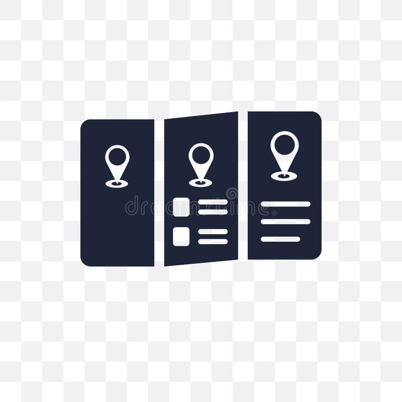 Icône transparente de guide de voyage Conception de symbole de guide de voyage de T illustration libre de droits