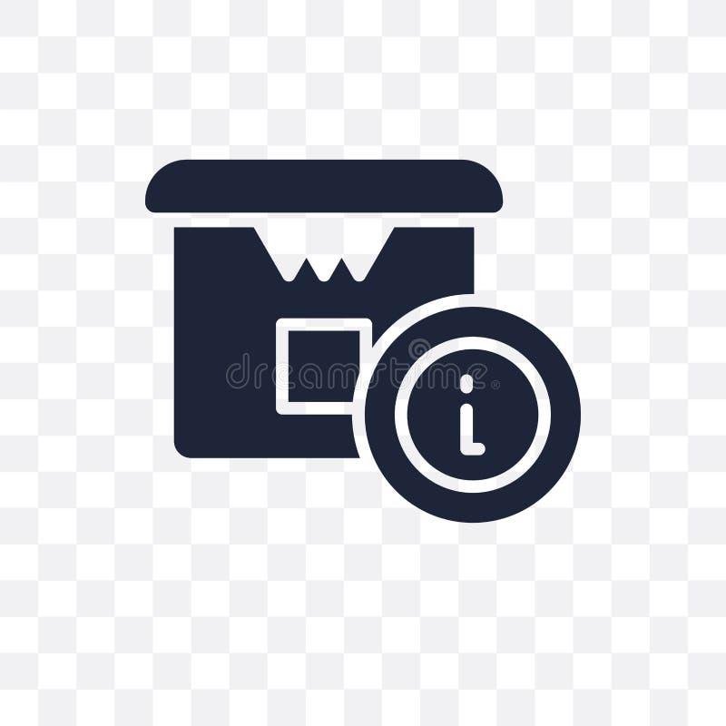 Icône transparente de l'information de livraison Conception de symbole de l'information de livraison de illustration libre de droits
