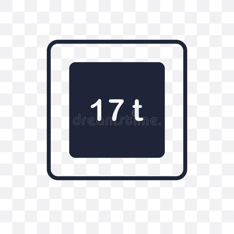 icône transparente de limite de poids conception de symbole de limite de poids de D illustration de vecteur