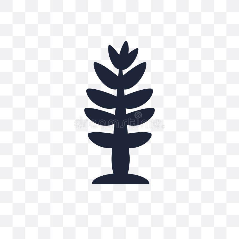 Icône transparente de mélèze Conception de symbole de mélèze de collecti de nature illustration libre de droits