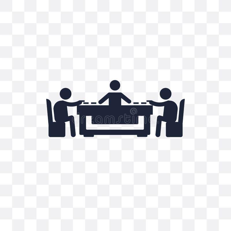 Icône transparente de Mahjong Conception de symbole de Mahjong de l'activité illustration de vecteur