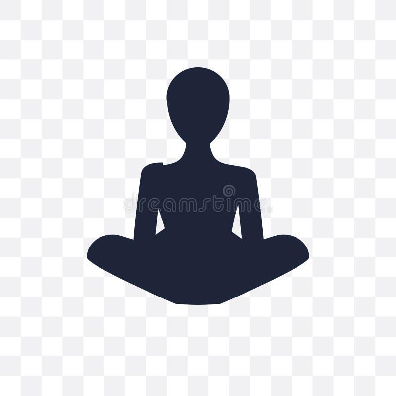 Icône transparente de moine Conception de symbole de moine de collecti de religion illustration stock