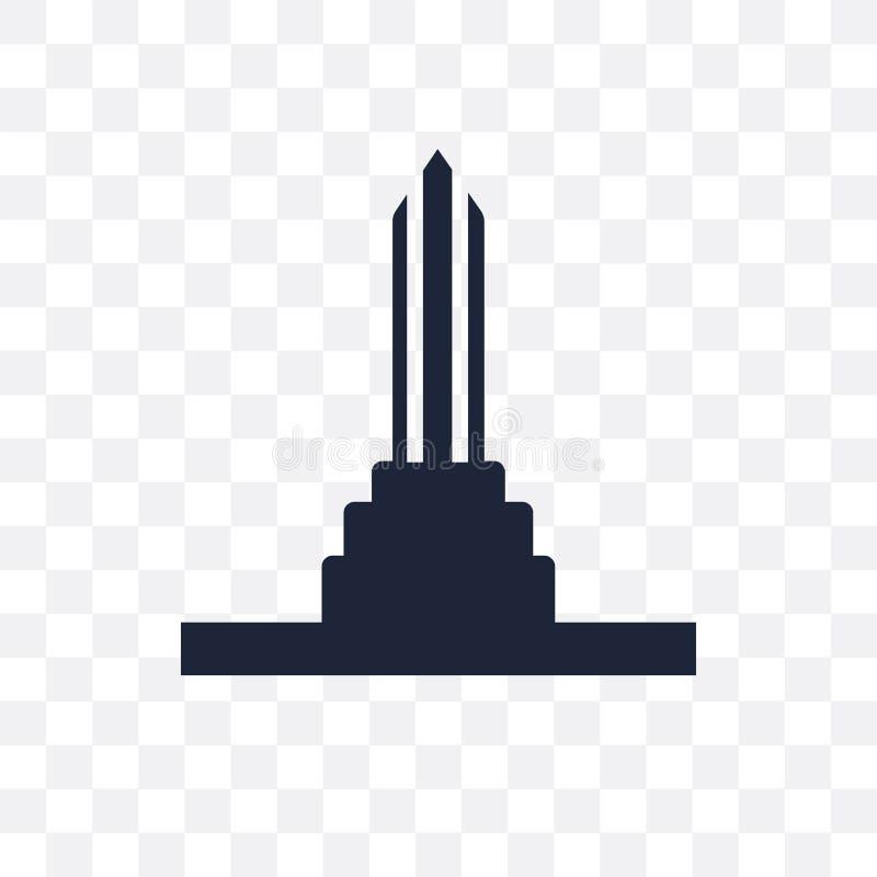 Icône transparente de monument Conception de symbole de monument d'architecte illustration libre de droits