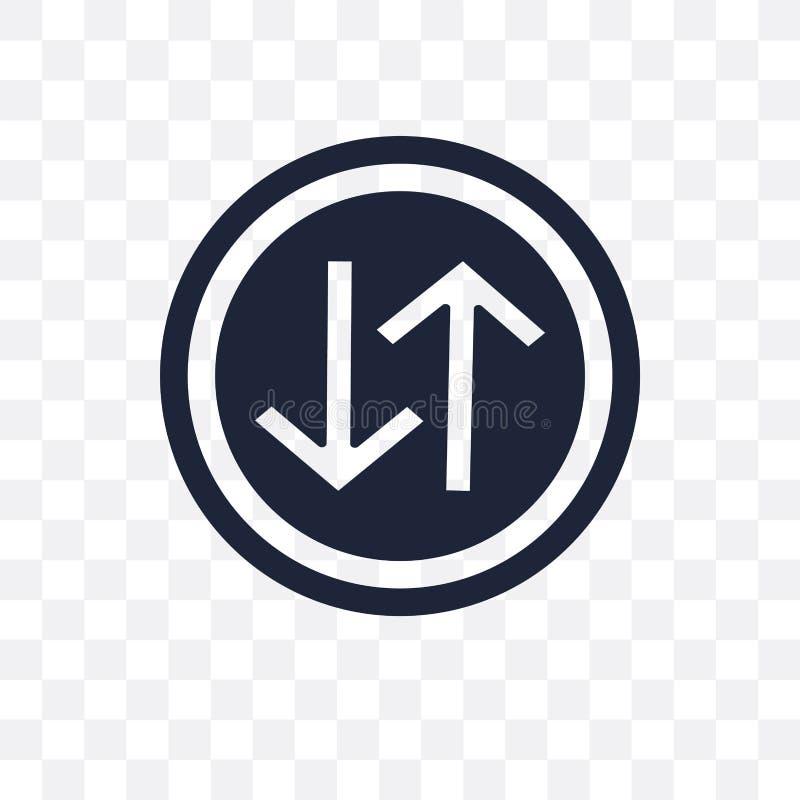 Icône transparente de panneau routier de manière Conception de symbole de panneau routier de manière de illustration de vecteur