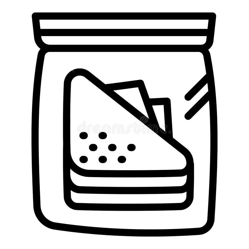 Icône transparente de paquet de panier-repas, style d'ensemble illustration stock