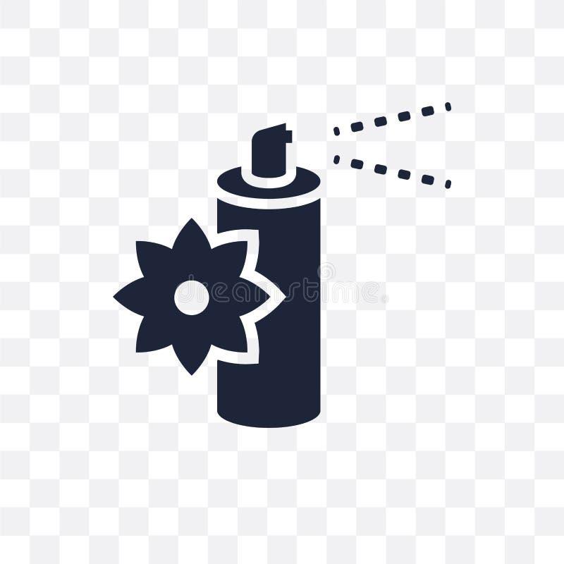 Icône transparente de parfum d'ambiance Conception de symbole de parfum d'ambiance de illustration stock