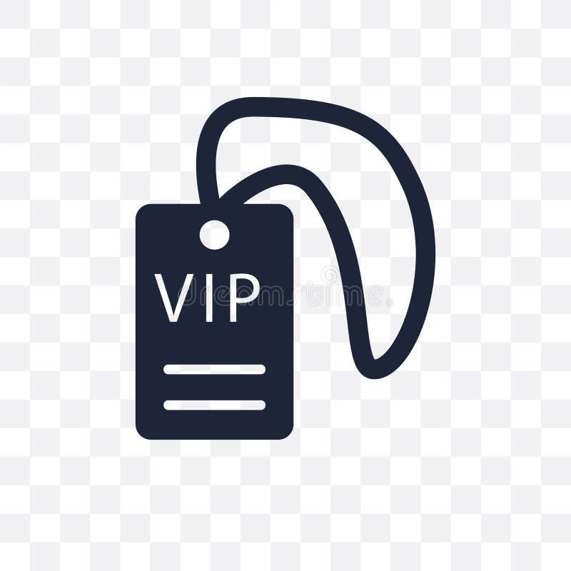 Icône transparente de passage de VIP Conception de symbole de passage de VIP du cinéma Co illustration de vecteur