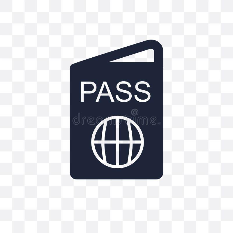 Icône transparente de passeport Conception de symbole de passeport du voyage Co illustration libre de droits