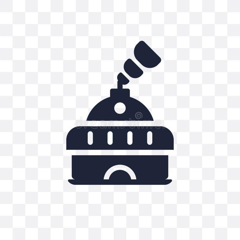 Icône transparente de planétarium Conception de symbole de planétarium d'Ast illustration libre de droits