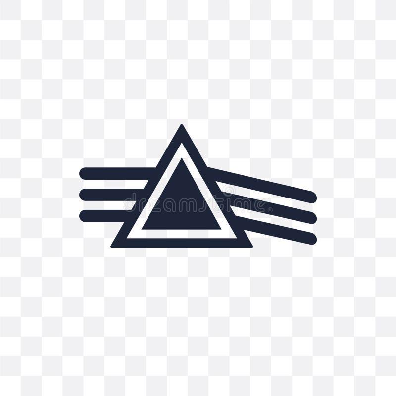 Icône transparente de réfraction Conception de symbole de réfraction de Scien illustration de vecteur