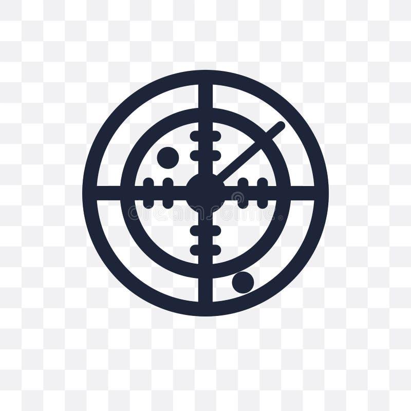 Icône transparente de radar de Militar Conception de symbole de radar de Militar de illustration stock