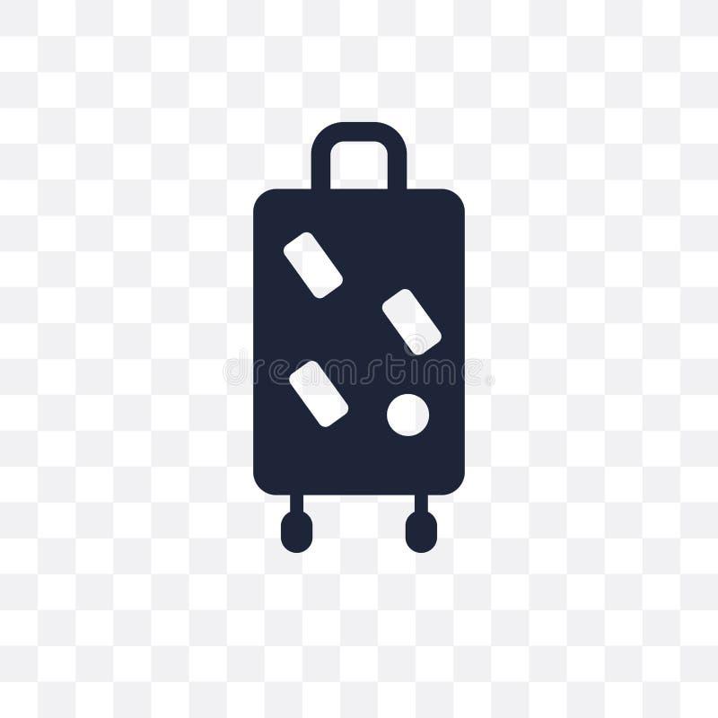 icône transparente de sac à dos de voyage conception de symbole de sac à dos de voyage illustration de vecteur