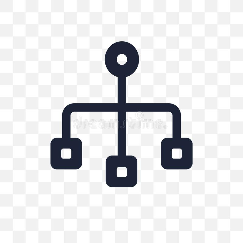 Icône transparente de Sitemap Conception de symbole de Sitemap de SEO se rassembler illustration stock