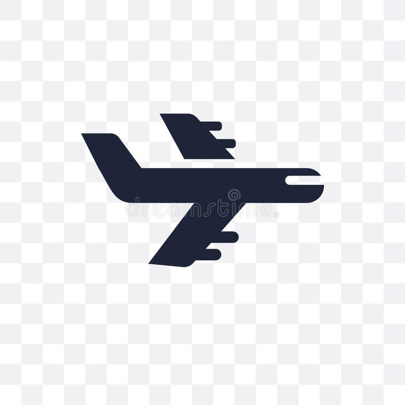 Icône transparente de vol Conception de symbole de vol de collec de voyage illustration de vecteur