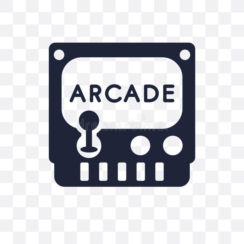 Icône transparente en cristal Conception en cristal de symbole de coll d'arcade illustration de vecteur