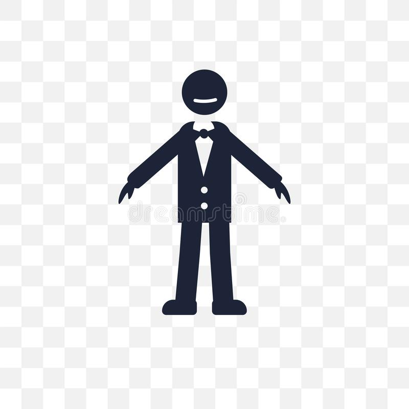 icône transparente humaine fraîche conception humaine fraîche de symbole des honoraires illustration de vecteur