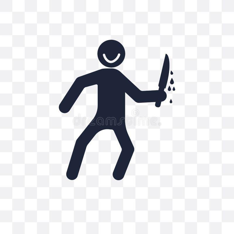 icône transparente humaine terrible conception humaine terrible de symbole des honoraires illustration stock