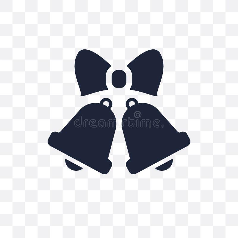 Icône transparente l'épousant de Bells Conception de symbole de Bells les épousant de illustration libre de droits