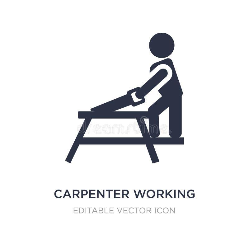 icône travaillante de charpentier sur le fond blanc Illustration simple d'élément de concept de personnes illustration de vecteur