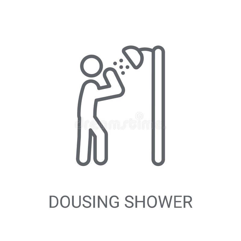 Icône trempante de douche Concept trempant à la mode de logo de douche sur le blanc illustration libre de droits