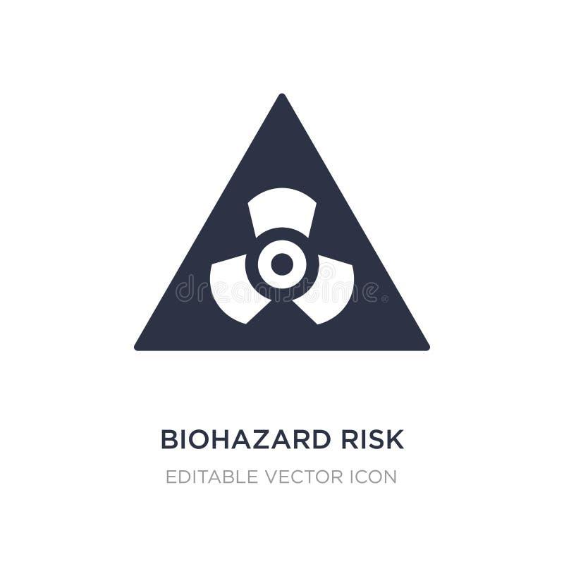 icône triangulaire de risque de biohazard sur le fond blanc Illustration simple d'élément de concept de signes illustration stock