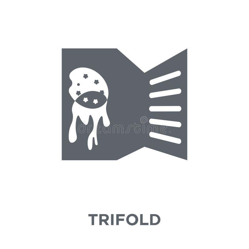 Icône triple de collection illustration de vecteur
