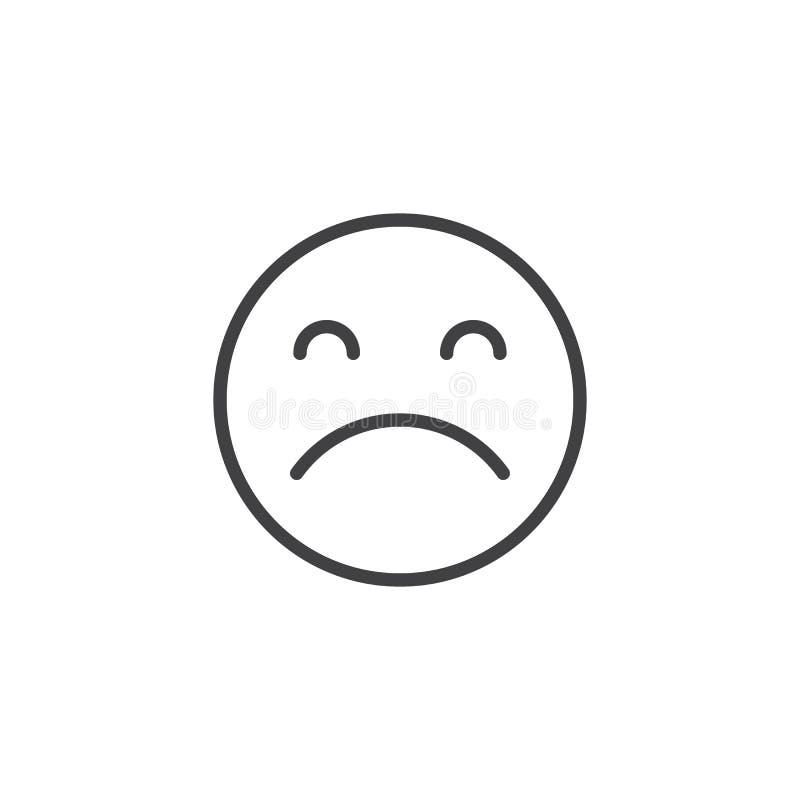 Icône triste d'ensemble d'émotion illustration de vecteur