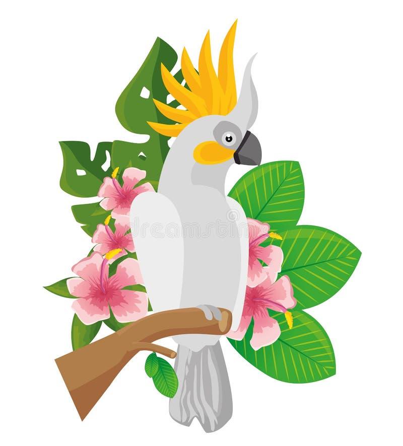 icône tropicale d'oiseau de perroquet illustration libre de droits