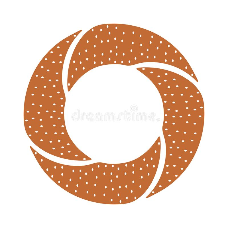 Icône turque de bagel illustration stock