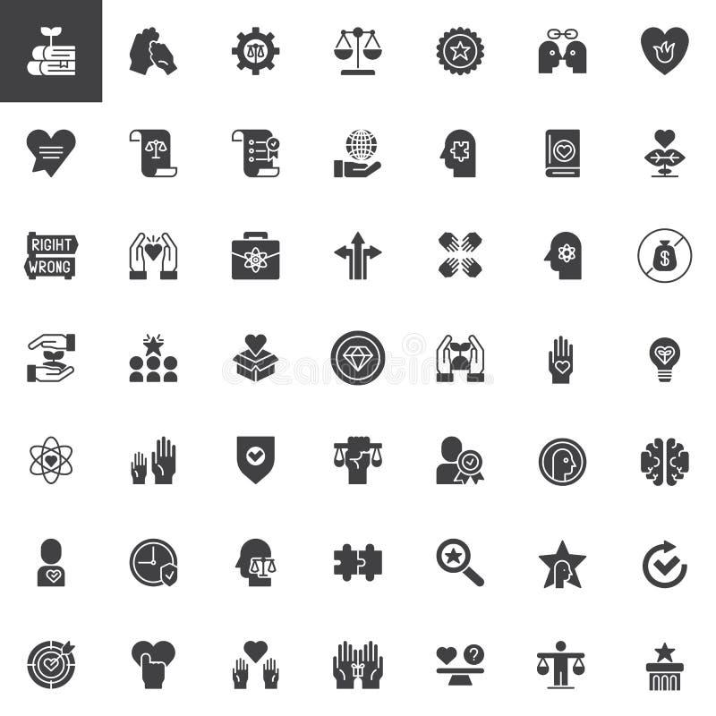 Icône universelle d'ensemble d'éthique illustration stock