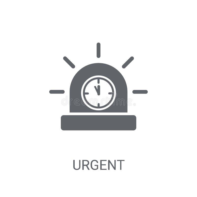 Icône urgente Concept urgent à la mode de logo sur le fond blanc de illustration de vecteur