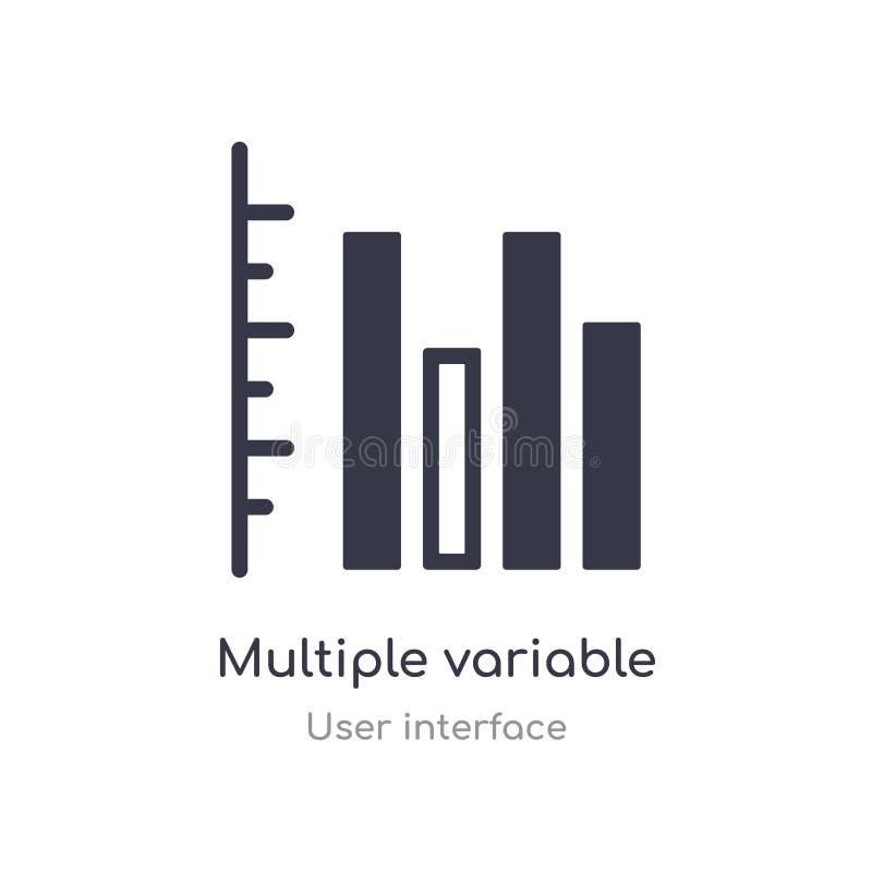 icône variable multiple d'ensemble de barres verticales ligne d'isolement illustration de vecteur de collection d'interface utili illustration libre de droits