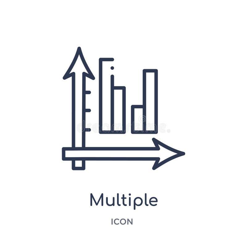 icône variable multiple de données de barres de collection d'ensemble d'interface utilisateurs La ligne mince icône variable mult illustration libre de droits