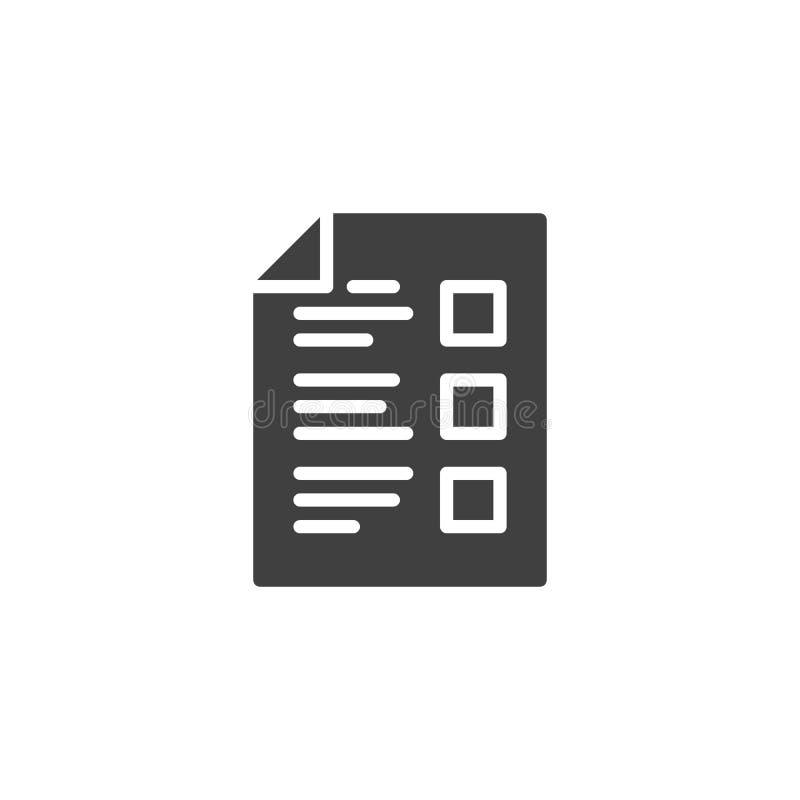 Icône vectoriel de la liste des tâches illustration de vecteur